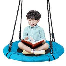Homde Upgrade Version Flying Saucer Swing Anti-Fade Tree Swing Set Outdoor Indoor Nest Swings with Adjustable Straps for Kids, Adults and Teens