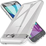 LK Case for Samsung Galaxy J7 V / J7 2017 / J7 Prime / J7 Perx / J7 Sky Pro/Galaxy Halo, Ultra [Slim Thin] TPU Rubber Soft Skin Silicone Protective Case Cover (Clear)