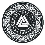 Nordic Viking Odin Valknut Symbol Large Embroidered Back Patch for Motorcycle Jacket & Biker Vest