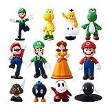 Herefun 12pcs/Set Super Figuras, Super Bros Juguetes Modelo, Personajes de Super Bros, Figuras de...