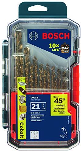 Bosch CO21B 21 Pc. Cobalt M42 Drill Bit Set