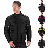 Viking Cycle Enforcer Touring/Adventure Textile Waterproof Mesh Riding Motorcycle Jacket for Men (Large, Black)