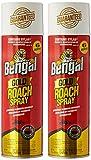 Bengal Roach Killer, 11 oz, Can, Viscous Liquid, Brown, Mild Ethereal, Spray 2 pack
