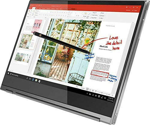 "Lenovo Yoga C930 2-in-1 Laptop, 13.9"" Full HD ( 1920 x 1080 ) Touchscreen, 8th Gen Intel Core i7-8550U, 12GB RAM, 256 GB SSD, Fingerprint Reader, Windows 10, Iron Gray (Renewed)"