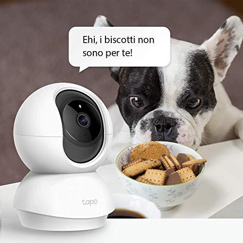 Product Image 1: TP-Link Telecamera Wi-Fi Interno, Videocamera sorveglianza 1080P, Visione Notturna, Audio Bidirezionale, Notifiche in tempo reale del sensore di movimento
