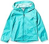 Columbia Girls' Big Switchback II Rain Jacket, Bright Aqua, Medium