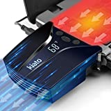 Laptop Cooler Laptop Fan with Auto-Temp Detection, Laptop Cooling Fan Laptop Cooling with Celsius/Fahrenheit Temperature Display for Gaming Laptop, Nintendo Switch Blue