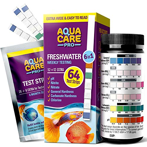 Freshwater Aquarium Test Strips 6 in 1 - Fish Tank Test Kit
