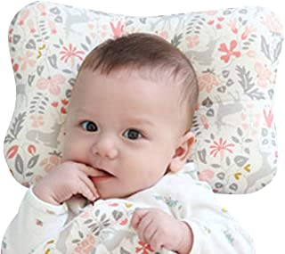 Baby Pillow for Newborn Breathable 3D Air Mesh Organic Cotton, Protection for Flat Head..