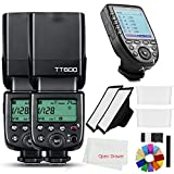 Godox 2X TT600 2.4G HSS Wireless GN60 Master/Slave Camera Thinklite Camer Flash Speedlite Built in Godox X System Receiver with Xpro-C Trigger Transmitter Compatible Canon Camera