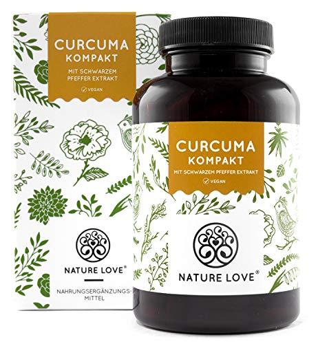 Curcuma Extrakt - Curcumin Gehalt EINER Kapsel entspricht dem von ca. 15.000mg Kurkuma - Hochdosiert mit 95{7eed3a5b926bc1111a9b54e693687eb3a0d9f4179ce1fc9fdda19a367044ebc9} Extrakt - Laborgeprüft, vegan, hergestellt in Deutschland