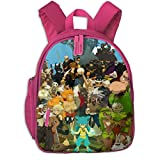 XCNGG Mochila para niños Mochila para niños Bolsos para niños Water Resistant Child Backpack, Anime Wakfu Characters Poster Sports Backpacks With Padded Shoulder Straps, Big Unique School Opens Bags f
