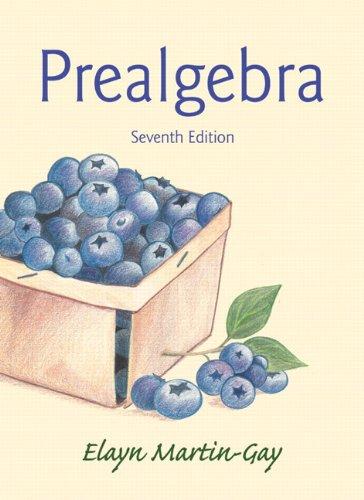 Prealgebra (7th Edition)