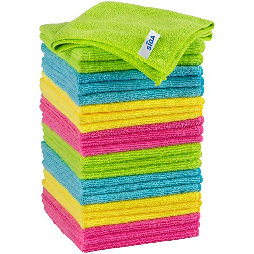 MR.SIGA Microfiber Cleaning Cloth, Pack of 24, Size:12.6' x 12.6'