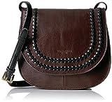 Tignanello Classic Boho Saddle Bag, Brown/Black