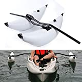 LYNICESHOP Kayak Outrigger, 2 PCS Kayak Stabilizer PVC Inflatable Pontoon Fishing Float Tube Kit - Alloy Floating Inflatable Outriggers Stabilizer Kit for Kayak Canoe Fish