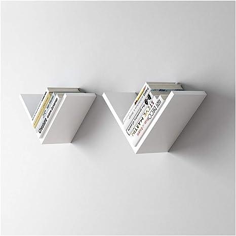 Amazon Com Ldg V Shaped Floating Shelves Bookshelf Living Room Bedroom Storage Rack Modern Minimalist Wall Mounted Wall Shelf Color C Home Kitchen
