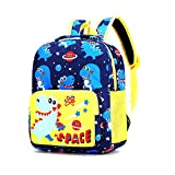 Cute Kindergarten Toddler backpack Preschool bag Child Book Bag Cartoon Animal School Bags for Kid Children Elementary Student Bookbags Lunch Box Carry Bag for 1-6 Years Boys Girls, dinosaur