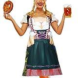 Jeere Delantal de Oktoberfest Alemán Delantal de Vestido Dirndl de Alemán Delantal de Tela de...