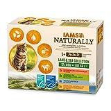 IAMS Naturally Nourriture Humide pour Chat Stérilisé ou non 12...