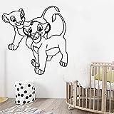 wZUN Pegatinas de Pared de Dibujos Animados calcomanías de Vinilo de león decoración de la habitación del bebé decoración de la Personalidad del Dormitorio Mural de Arte extraíble 42X43 cm