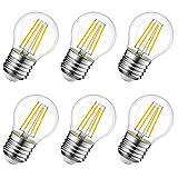4W Ampoule LED Filament E27 G45, Equivalent à Ampoule Incandescence 40W,...