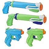 Nerf - Pistolets A Eau Nerf Super Soaker Floodtastic - Pack de 4 Pistolets...