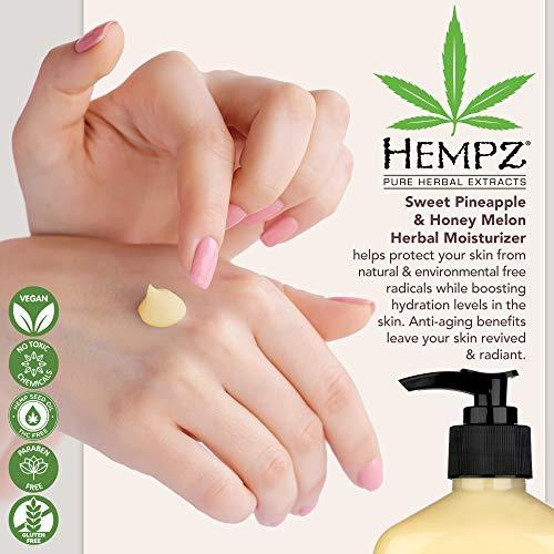 Hempz Sweet Pineapple & Honey Melon Moisturizing Skin Lotion, Natural Hemp Seed Herbal Body Moisturizer with Jojoba, Natural Extracts, Vitamin A and E, 17 oz 2