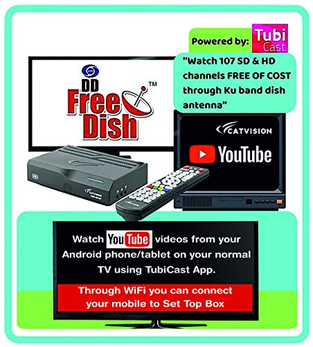 Catvision Advanced 2 in 1 Set Top Box with Mobile Cast to Television from Android Phones/Tablets  ...