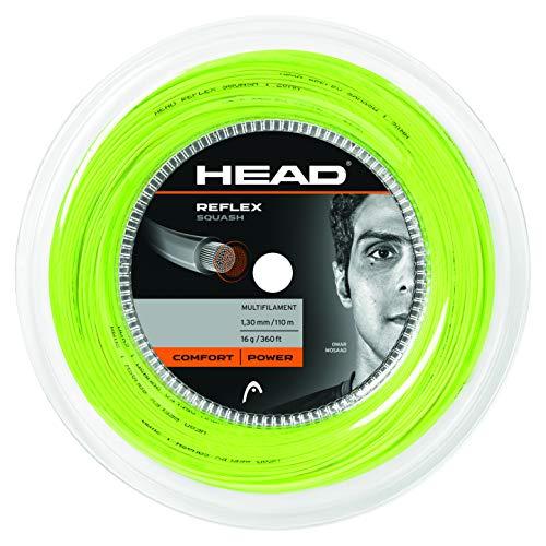 Testa reflex 18squash string 110m/109,7m, colore giallo