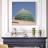 wZUN Arquitectura Moderna Carteles e Impresiones Arte de la Pared islámica Musulmana Mezquita Lienzo para Sala de Estar Pintura de Pared decoración del hogar 50x50 cm