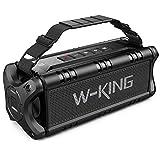 50W(70W Peak) Bluetooth Speaker 5.0, W-KING IPX6 Waterproof Wireless Outdoor Portable, TF Card...