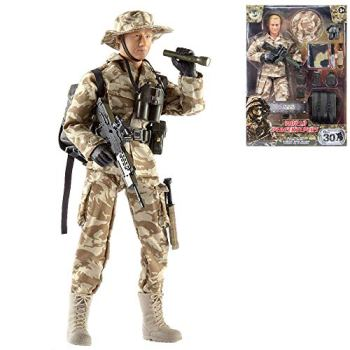 Peterkin 74712 World Peacekeepers S.A.S. Action Figure & Accessories Figure, Camouflage