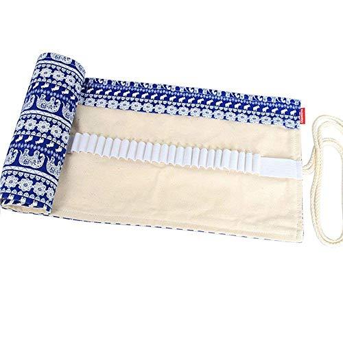 Astucci per matite Borsa for matita arrotolata in tela stampata vintage 24/24/36/48/72 Custodia for...