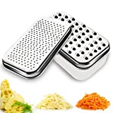 Cheese Grater Lemon Zester with Food Storage...