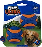 SQUEAKY BALL TOY: Squeaker dog ball is designed with a built-in squeaker that creates fun sounds during fetch, making fetch more exciting for dogs. Compatible with Chuckit! dog ball launchers. DURABLE DESIGN: The high bounce ball for dogs is made of ...
