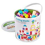 New Classic Toys Jeu Éducatif pour Enfants Baril de Cubes - Colorés - 100 pièces