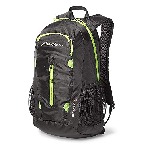 Eddie Bauer Unisex-Adult Stowaway Packable 20L Daypack, Black Regular ONESZE