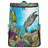 SLHFPX Travel Backpack Ocean Sea Aquatic World Coral Fish Tortoise School Backpack for Men Big Boxy Bookbag
