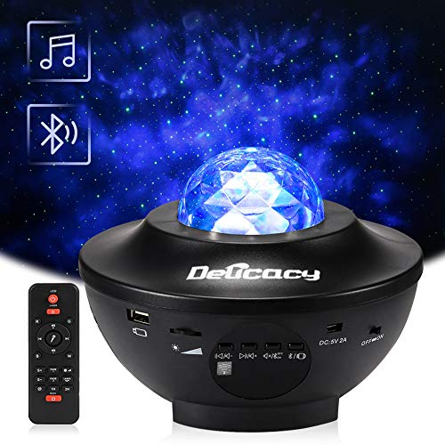 Delicacy Proiettore a Luce Stellare, Proiettore Stellato Bluetooth, LED Luce Rotante Nebulosa con...