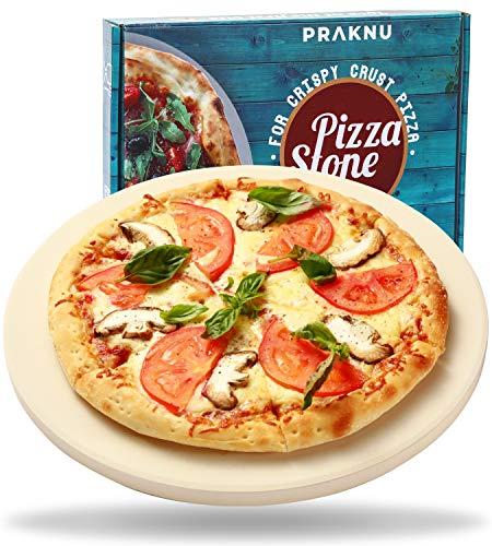 Pietra Refrattaria per Pizza da Forno e Barbecue - Tonda 30 cm - Per un Impasto Croccante - Piastra Refrattaria