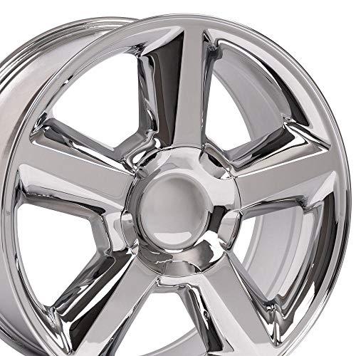 OE Wheels LLC 20 Inch Fits Chevy Silverado Tahoe GMC Sierra Yukon Cadillac Escalade CV83 Chrome 20x8.5 Rim Hollander 5308