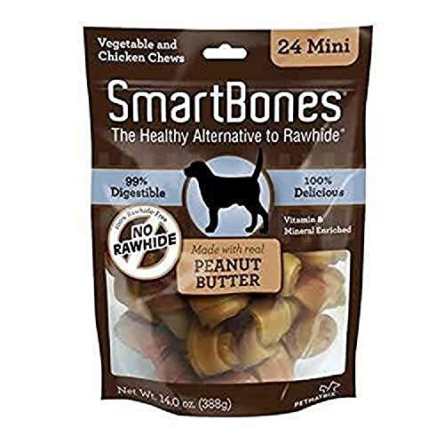 SmartBones SBPB-00212 Mini Chews With Real Peanut...