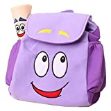 WEN FEIYU Dora Explorer Backpack Rescue Bag with Map,Pre-Kindergarten Dora Backpack Purple