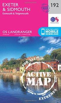 Landranger Active (192) Exeter & Sidmouth, Exmouth & Teignmouth (OS Landranger Active Map)