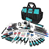 DURATECH 269-Piece Home Repair Tool Set, Daily Use Mechanics Hand Tool Kit with Wide Open Mouth Tool Bag, Perfect for DIY, Home Maintenance