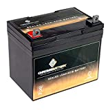 Deep Cycle SLA Replacement Battery 12V 35AH AGM Battery- Replaces Husqvarna YTH2448 Lawn Tractor Battery- Chrome Battery