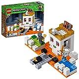 Inclut 2 figurines LEGO Minecraft, chacune dotée de sa propre skin Minecraft unique, ainsi qu'une figurine de lapin tueur. Comprend un crâne géant à construire LEGO Minecraft équipé d'une grande structure en forme de crâne, de lave, de podiums verts ...