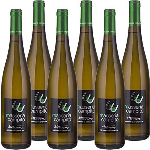 Asprinio di Aversa Dop | Atellanium Masseria Campito | I Vini Bianchi della Campania | Confezione da 6 Bottiglie da 75 Cl | Idea Regalo