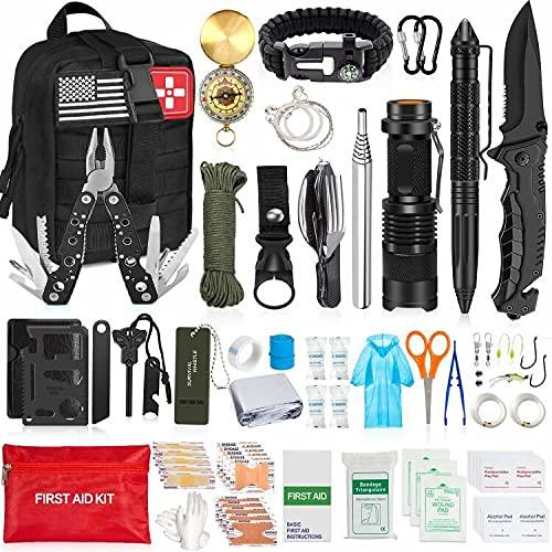 AOKIWO 200Pcs Emergency Survival Kit Professional Survival Gear...